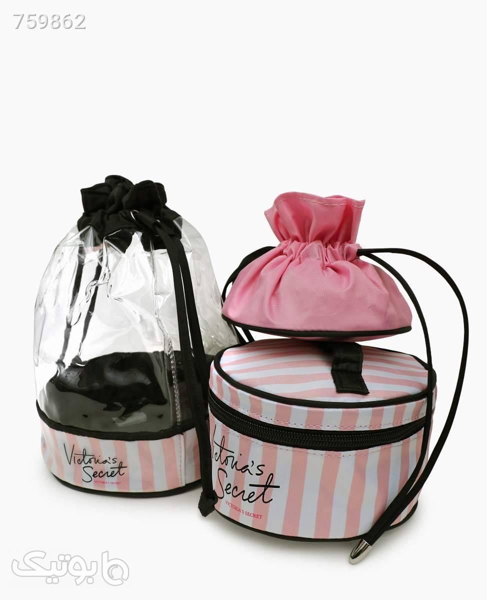 کیف آرایشی بسته سه تایی Victoria's Secret کد 8537Pink صورتی ابزار آرایشی