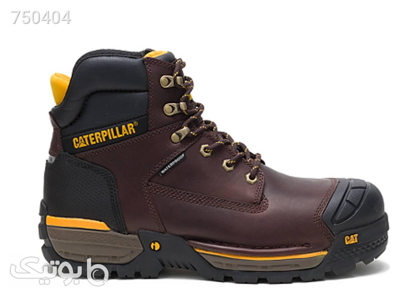 کفش ایمنی مامپوزیت مردانه کاترپیلار مدل caterpillar p91086 مشکی بوت مردانه