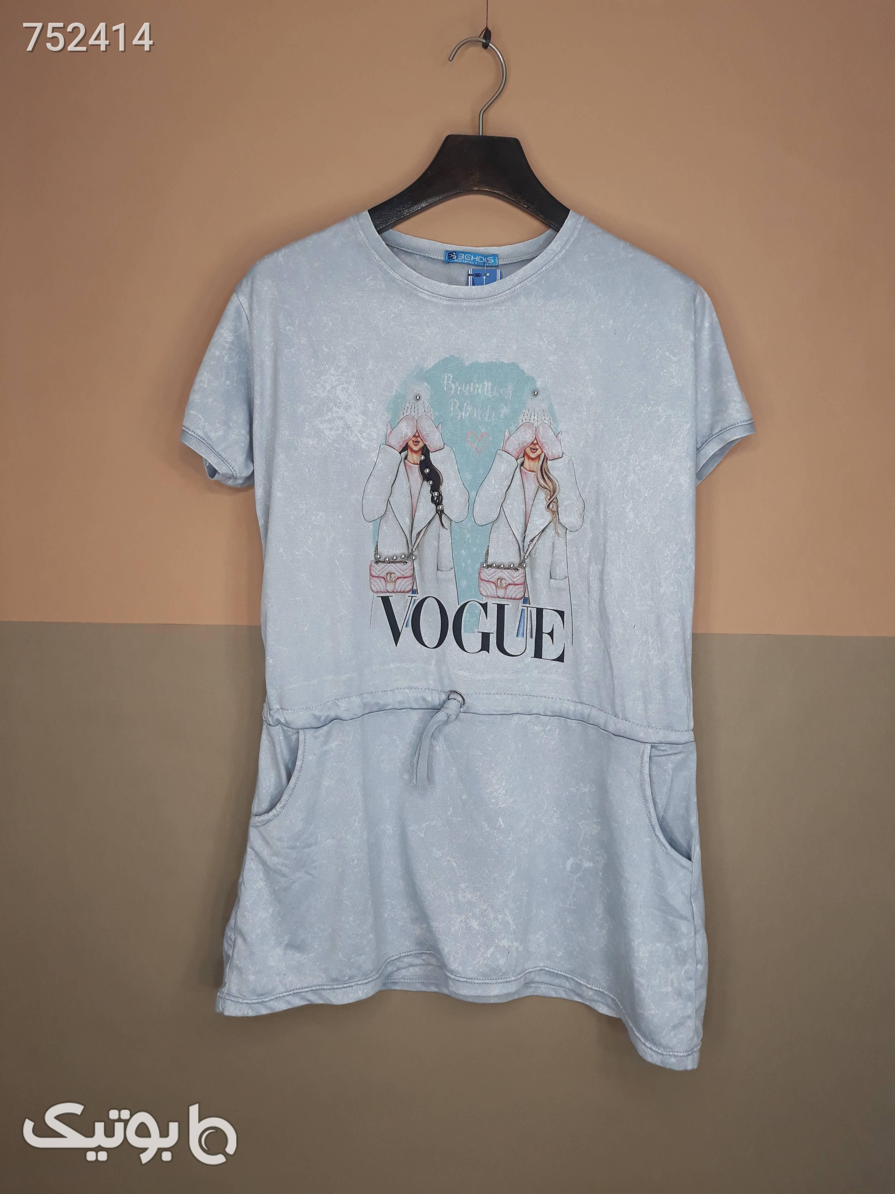 تیشرت تصویری نخ پنبه مدل کمری سبز تی شرت زنانه
