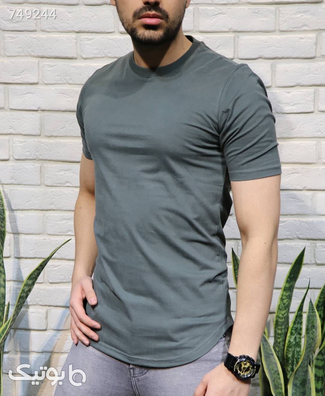 تیشرت ساده مردانه سبز تی شرت و پولو شرت مردانه