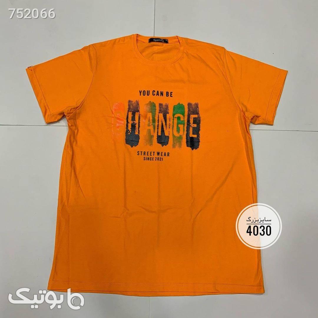 تیشرت سایز بزرگکد 252  نارنجی تی شرت و پولو شرت مردانه