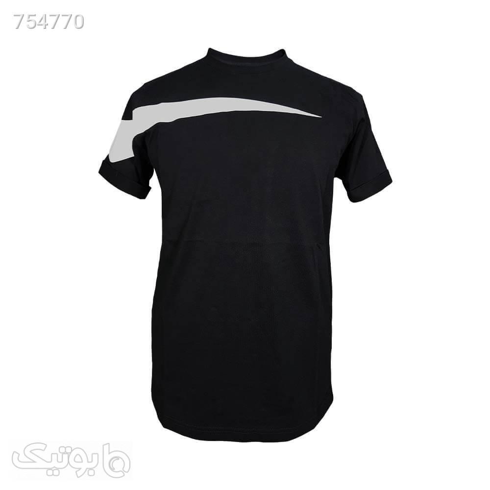 تیشرت پنبه براش طرح نایک مشکی 12218523 مشکی تی شرت و پولو شرت مردانه