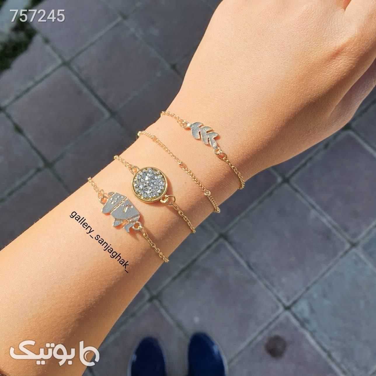 دستبند زنانه  نقره ای دستبند و پابند