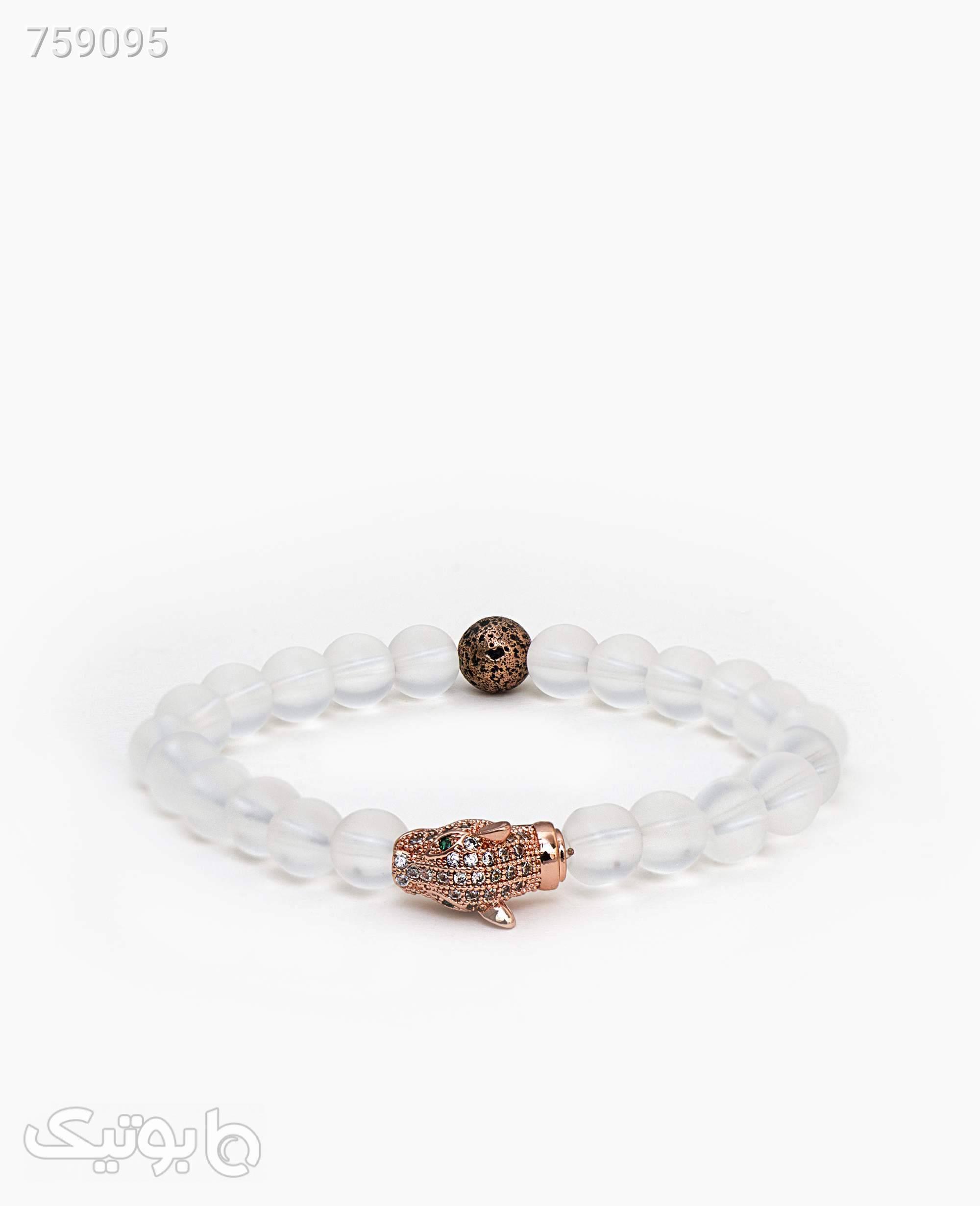 دستبند مهره ای کد 8721Rose Gold سفید دستبند و پابند