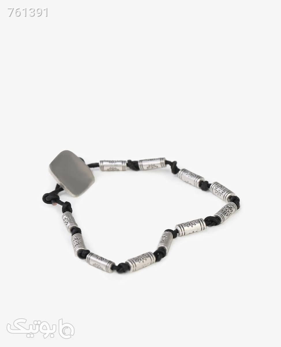 دستبند ورشو زنانه مدل 8922مشکی نقره ای دستبند و پابند