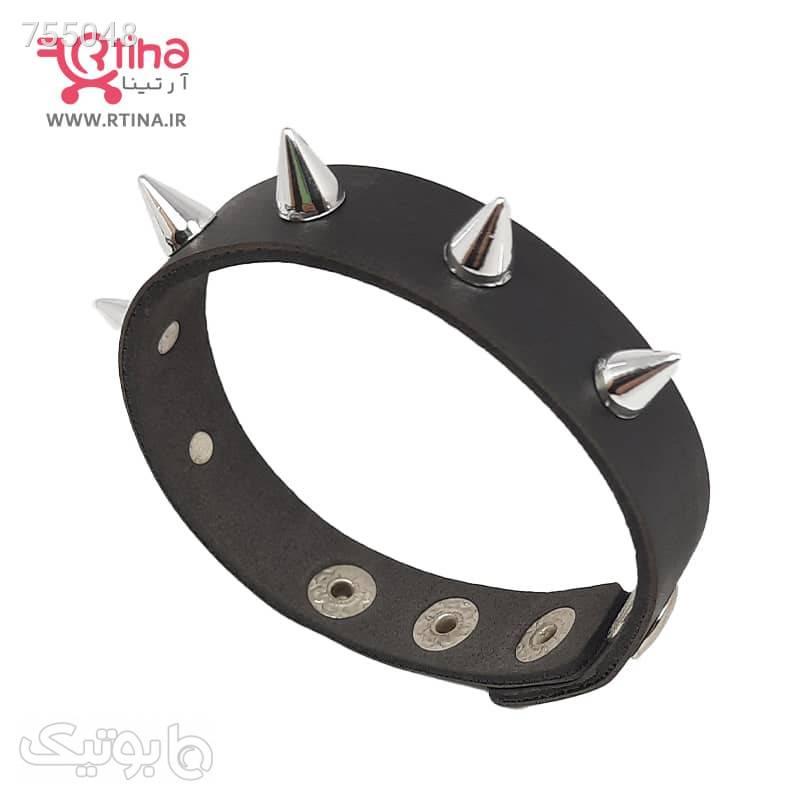 دستبند چرم پسرانه اسپرت مدل تک ردیفه مشکی دستبند و پابند