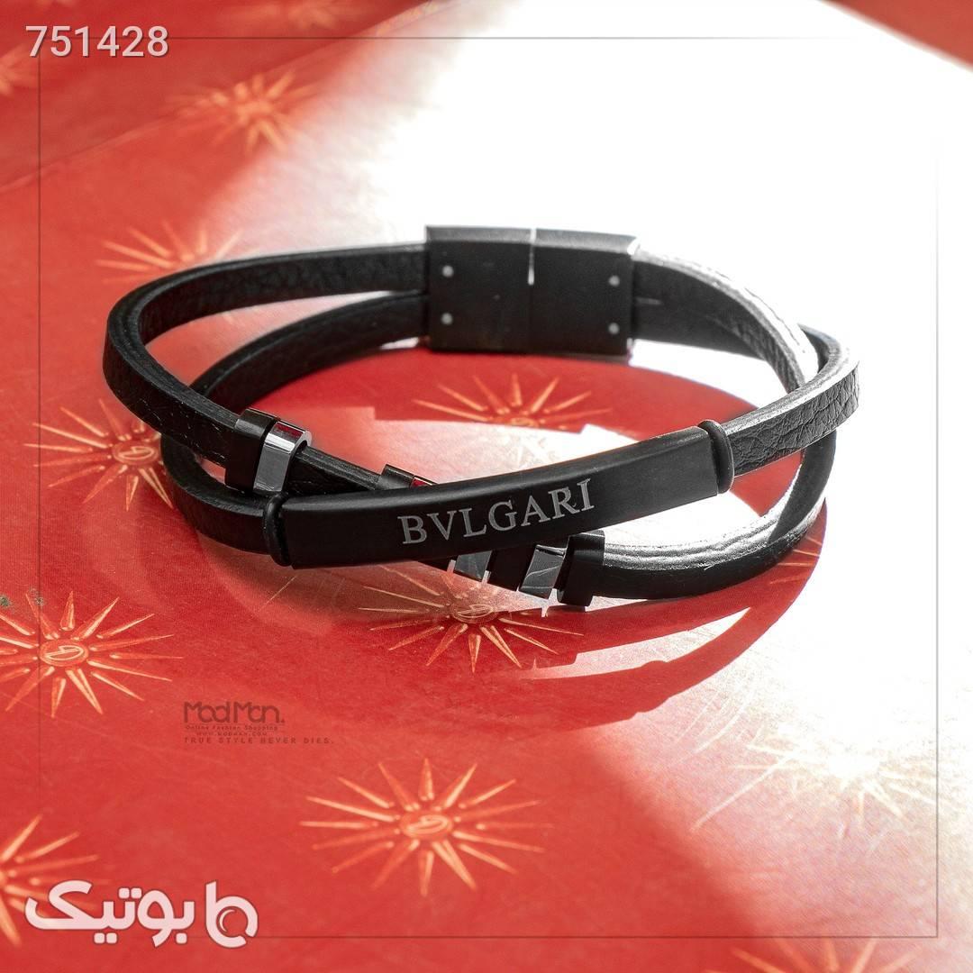 دستبند چرم Bulgari کد 7961 مشکی دستبند و پابند