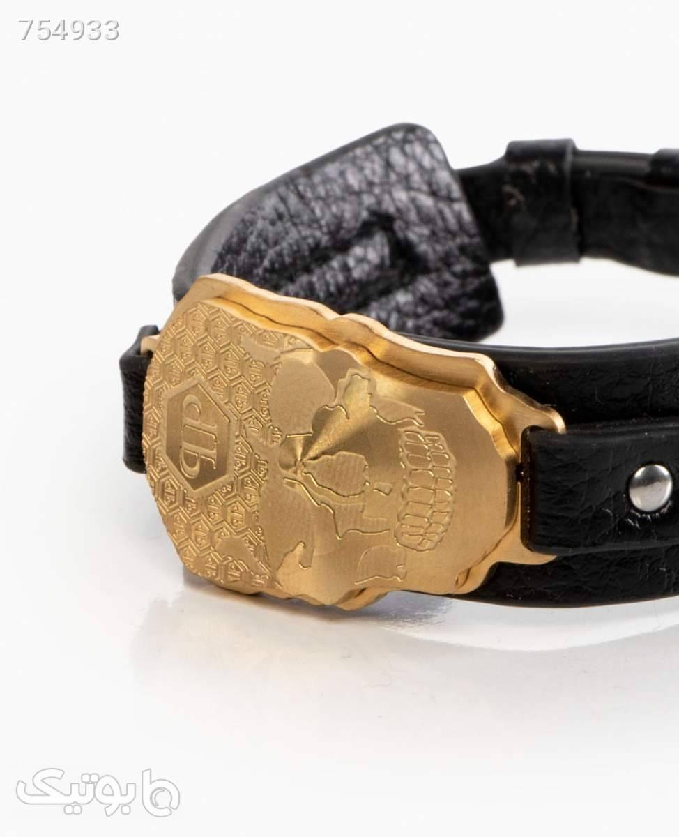 دستبند چرم Philipp plein کد 8793Gold مشکی دستبند و پابند