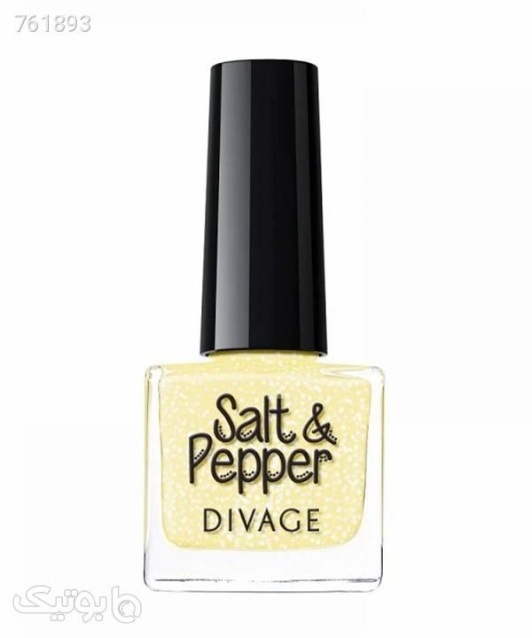 لاک ناخن دیواژ Divage مدل Salt  Pepper حجم 6 میلیلیتر زرد زیبایی ناخن ها