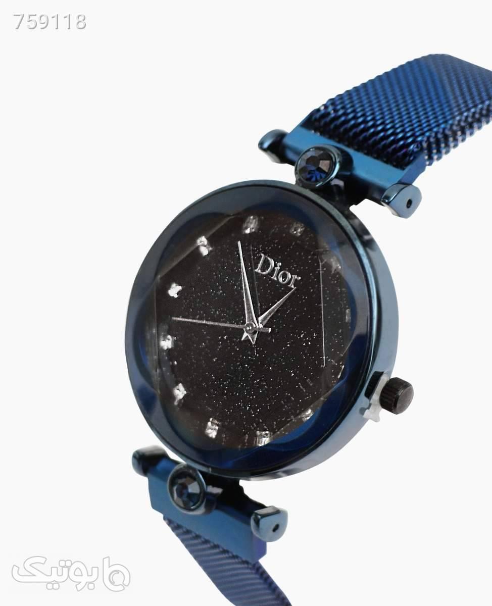 ساعت مچی عقربه ای Dior کد 3134DarkBlue سورمه ای ساعت
