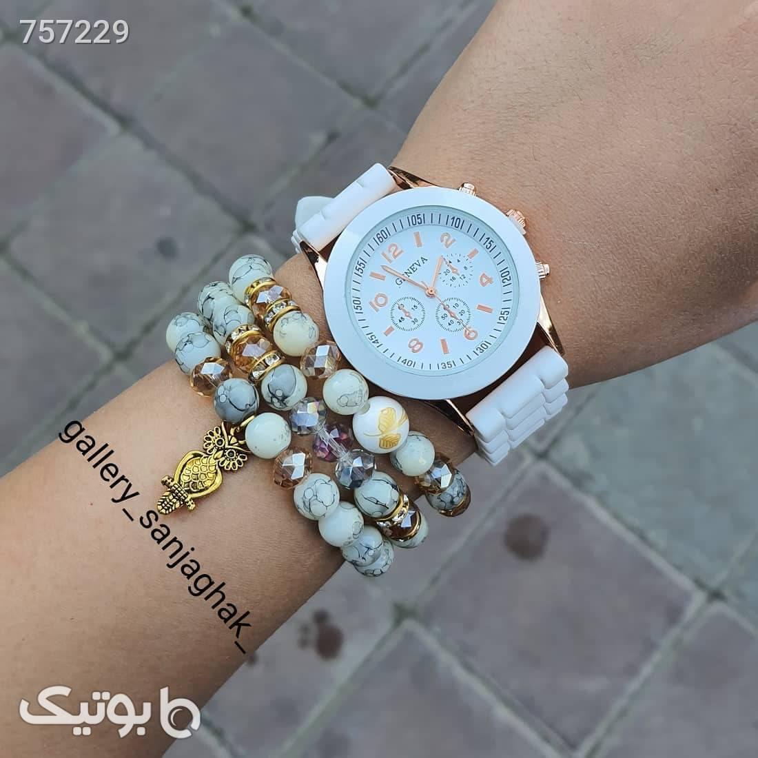 ساعت مچی  سفید ساعت