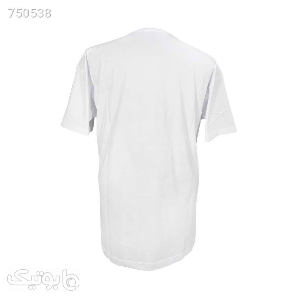 تیشرت بلک لایت لانگ پنبه ای طرح marshmallow کد 1221484 سفید سایز بزرگ مردانه