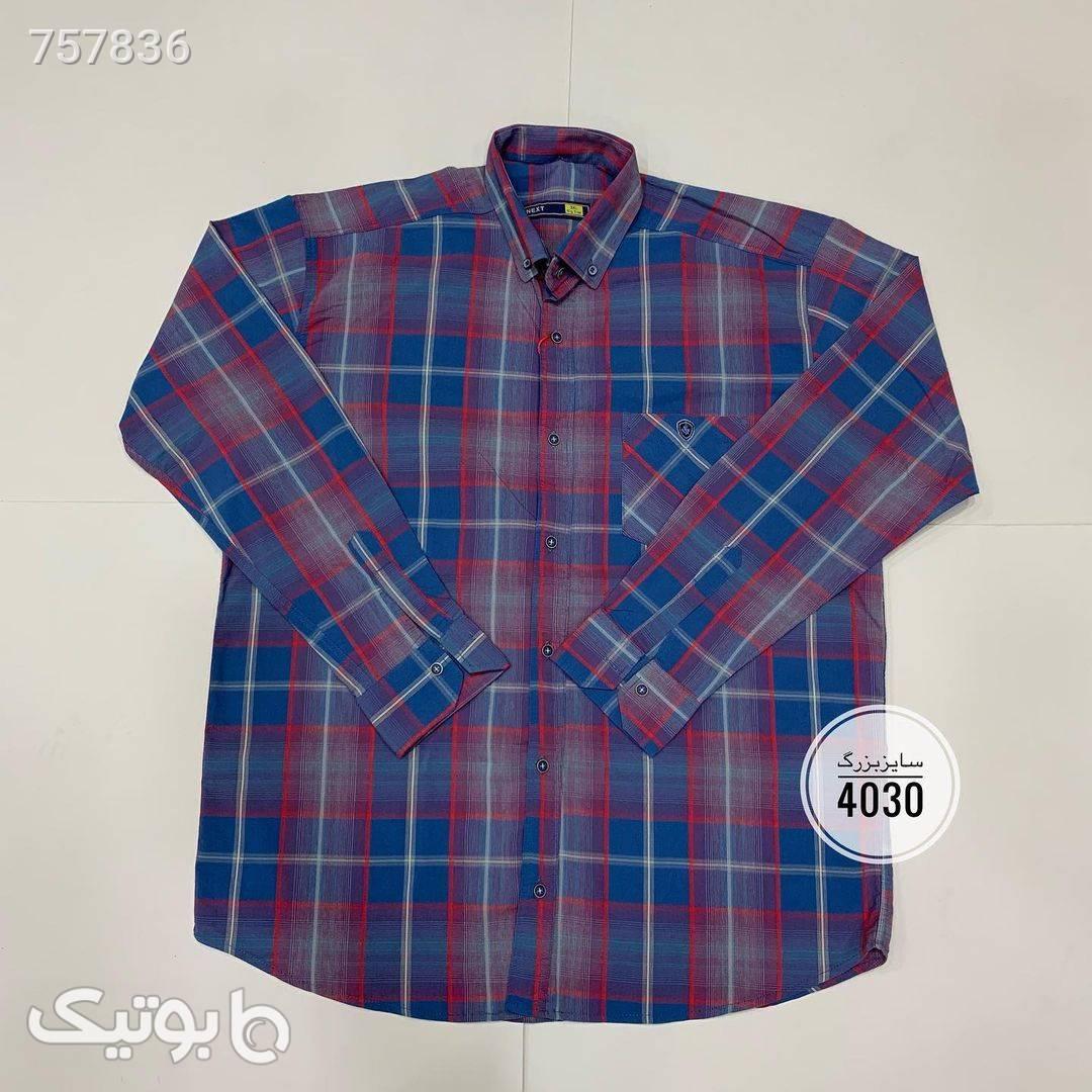 پیراهن سایز بزرگکد 460  طوسی سایز بزرگ مردانه