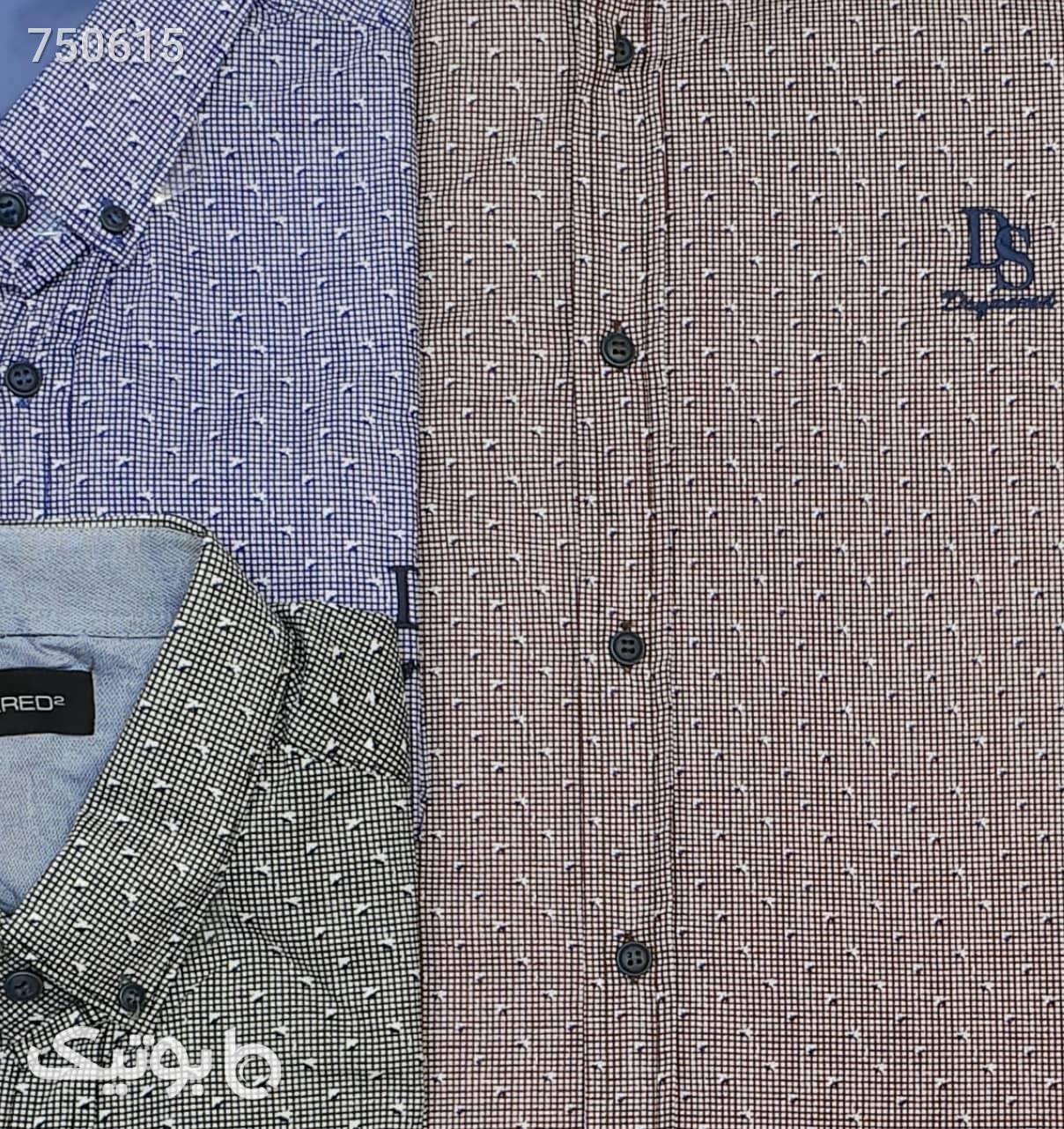 پیراهن طوسی سایز بزرگ مردانه
