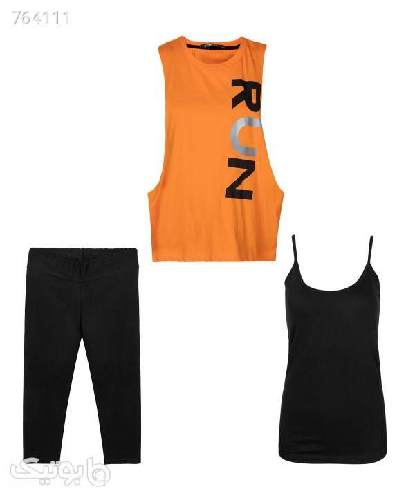 ست لگ، تاپ و کاور ورزشی زنانه رامکات Ramcott کد 991039 نارنجی ست ورزشی زنانه
