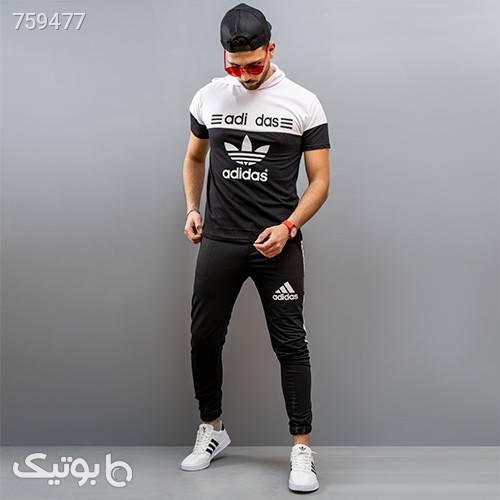 ست تيشرت شلوار adidas مردانه مدل Ariban مشکی ست ورزشی مردانه