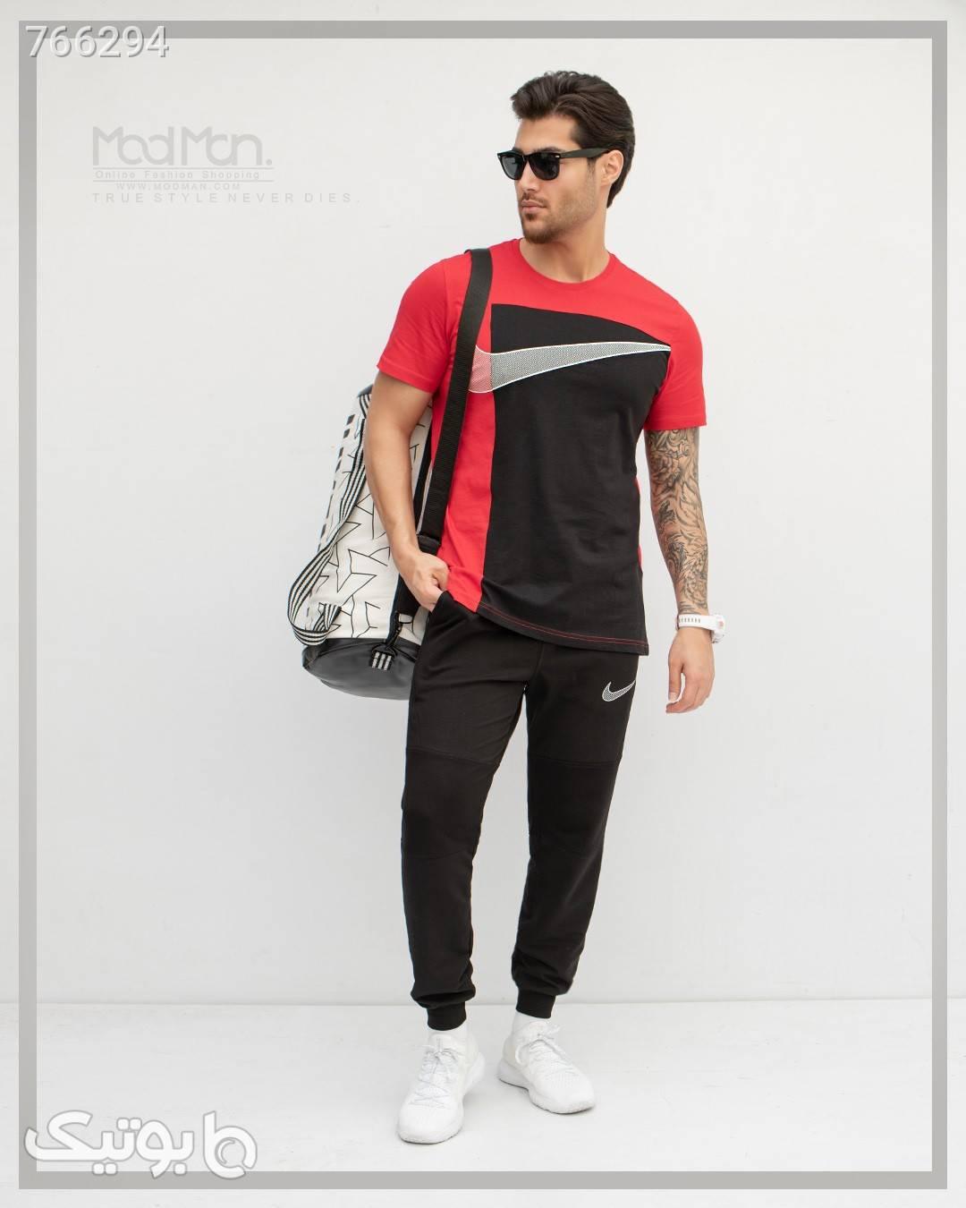 ست تیشرت و شلوار Nike سفید ست ورزشی مردانه