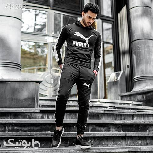 ست سوئيشرت شلوار PUMA مردانه مدل NIRAJ مشکی ست ورزشی مردانه