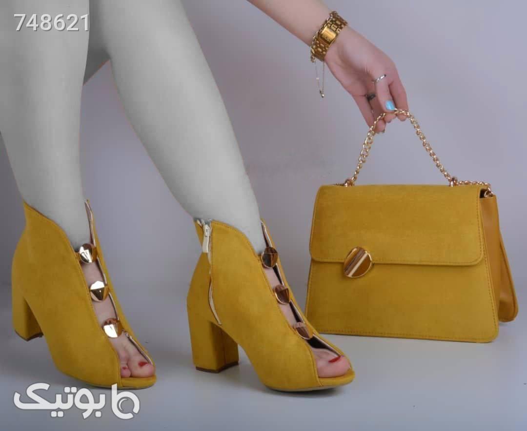 کفش مجلسی پاشنه ۷سانت شیک وخوشپا مشکی ست کیف و کفش زنانه