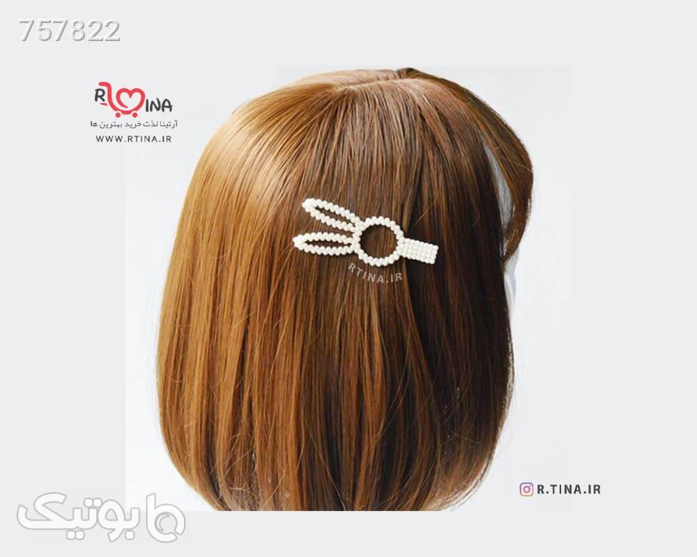 گیره انبری موی سر مدل فانتزیمرواریدی سفید سنجاق سر و آرایش مو