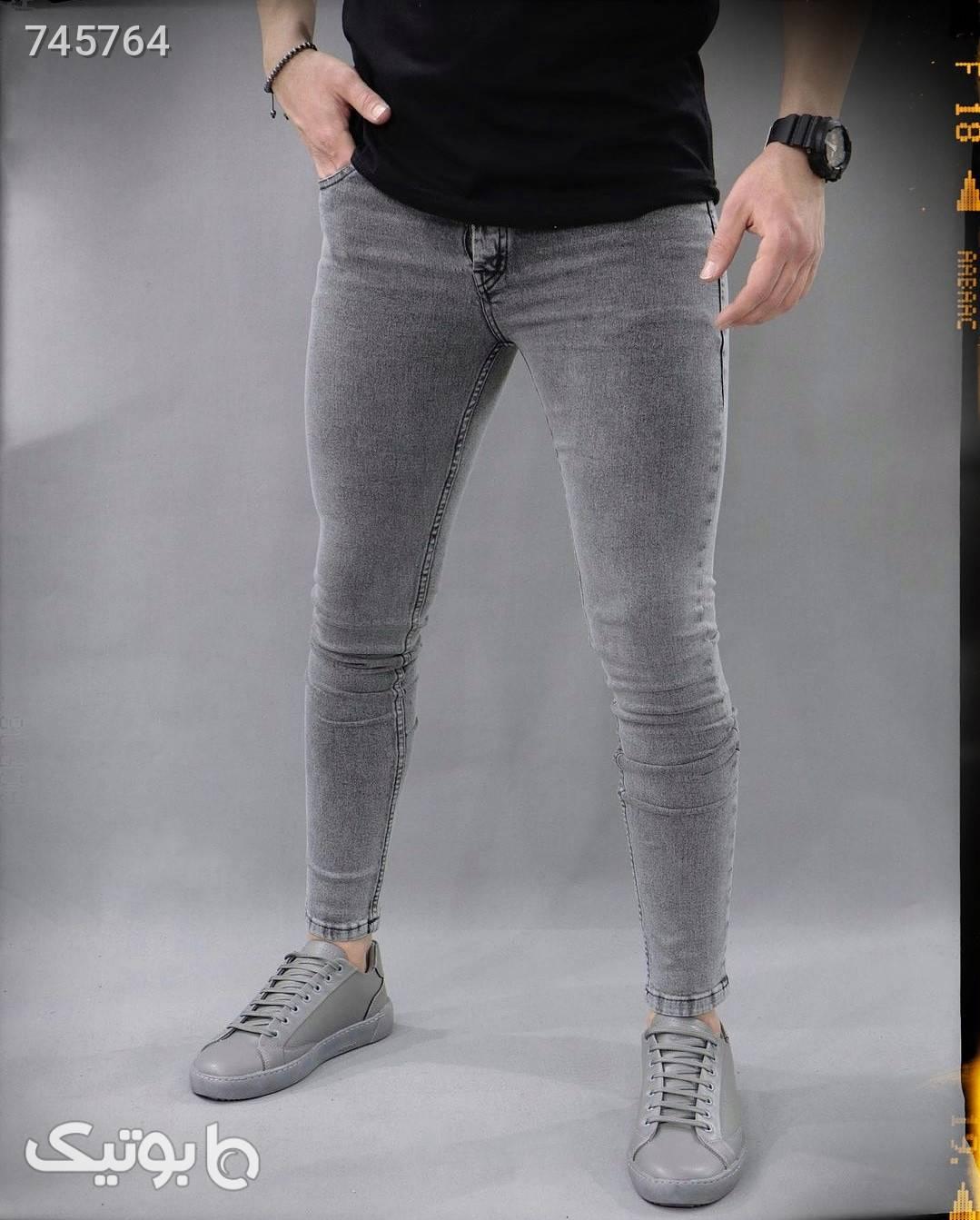 شلوار جین ترک طوسی شلوار جین مردانه
