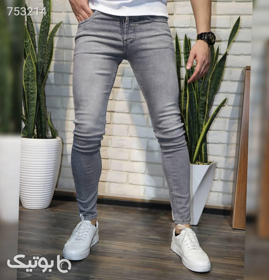 شلوار جین طوسی آبی شلوار جین مردانه