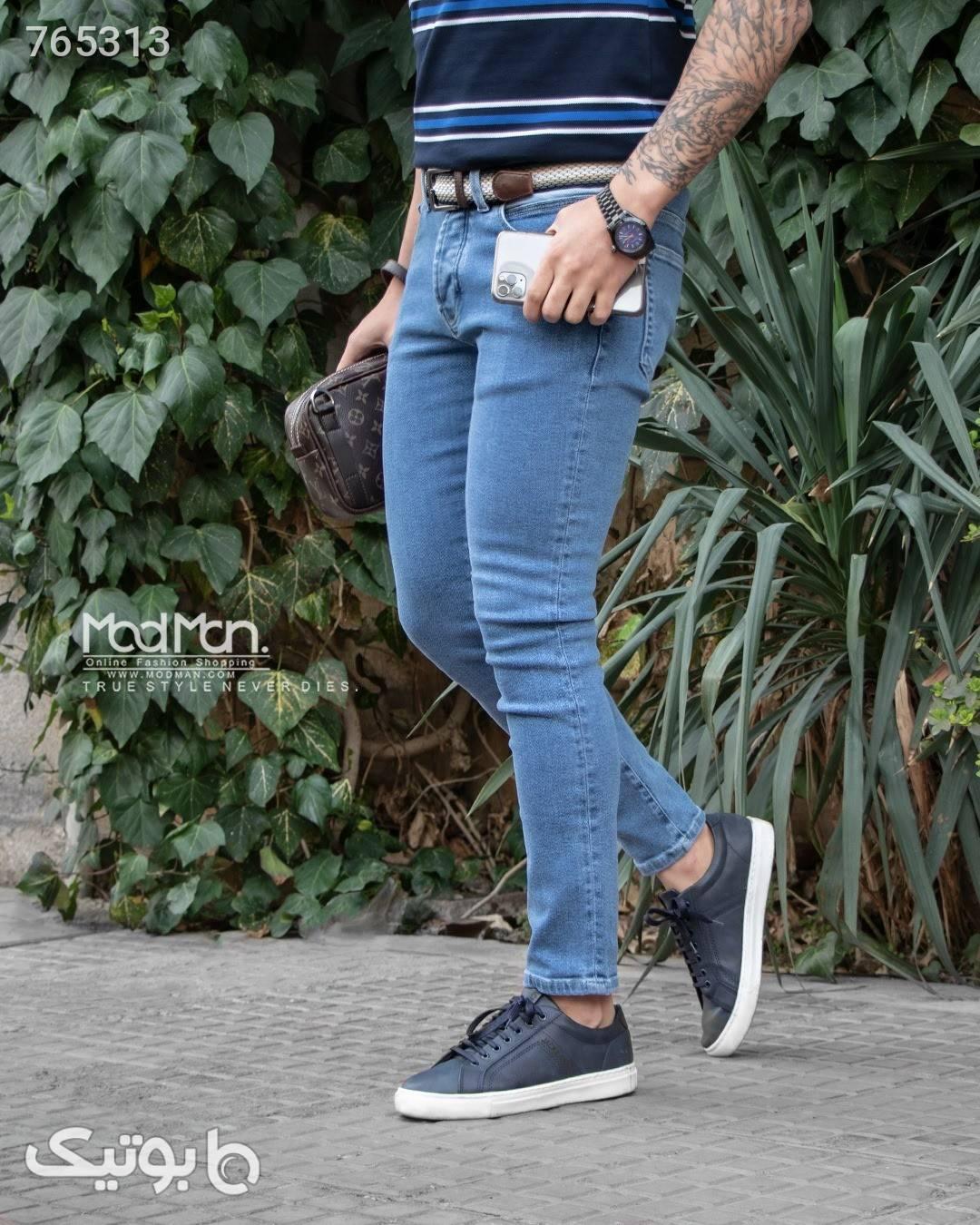 شلوار جین مردانه  آبی شلوار جین مردانه