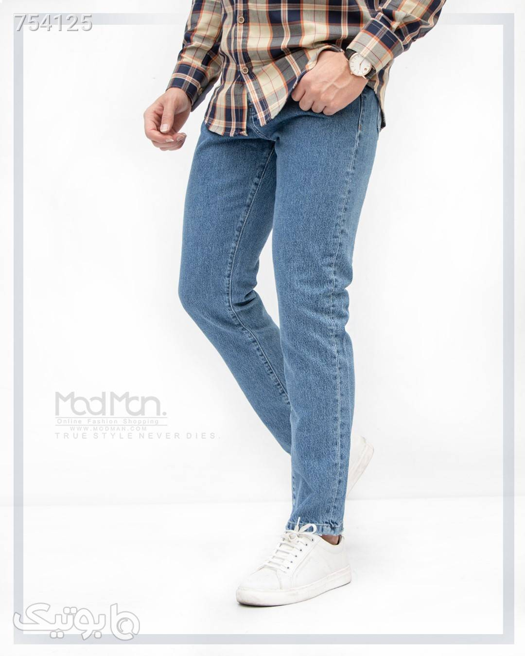 شلوار جین مردانه سورمه ای شلوار جین مردانه