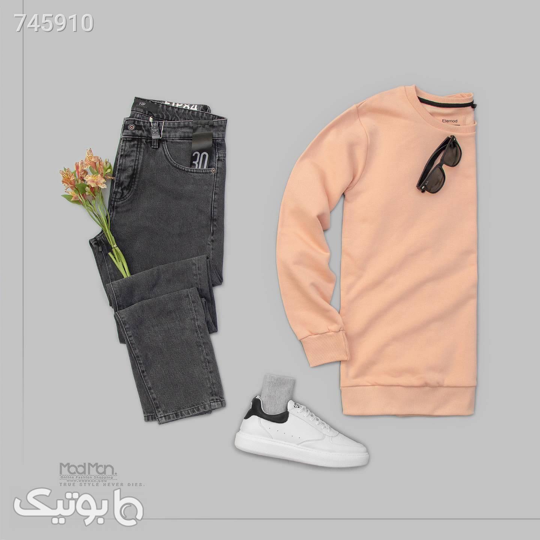 شلوار جین مردانه VA80 کد599353 مشکی شلوار جین مردانه