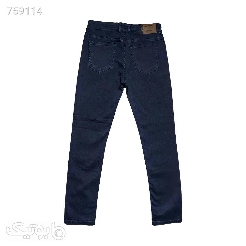 شلوار لی کشی مردانه راسته سورمه ای 11122510 سورمه ای شلوار جین مردانه