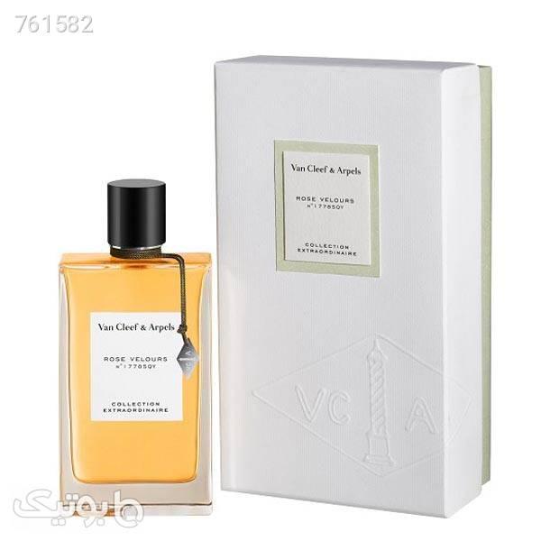 عطر ادکلن ون کلیف اند آرپلز رز ولورس | Van Cleef 038; Arpels Rose Velours نارنجی عطر و ادکلن