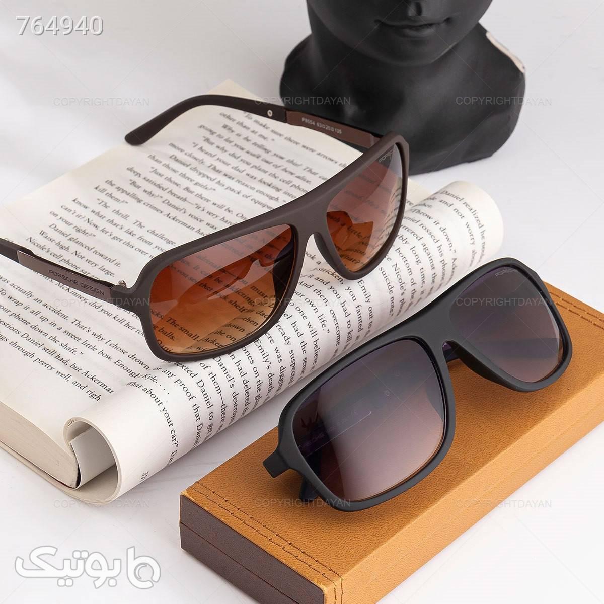 عینک آفتابی پورشه مدل 18423 مشکی عینک آفتابی