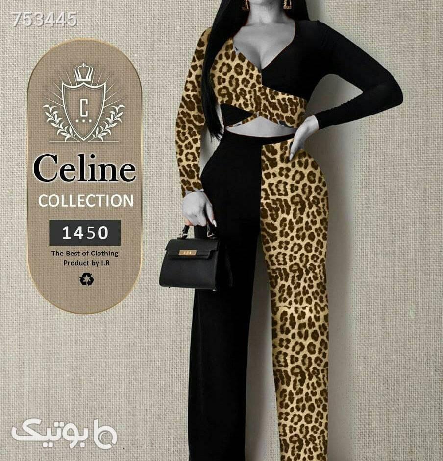 ست بلوز و شلوار زنانه  طلایی لباس راحتی زنانه