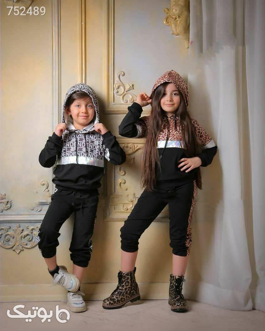 ست اسپرت خواهر برادری در ۵ مدل جذاب مشکی لباس کودک دخترانه