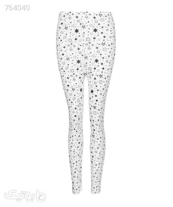 لگ طرحدار زنانه جوتی جینز JootiJeans کد 02972102 سفید لگ و ساپورت