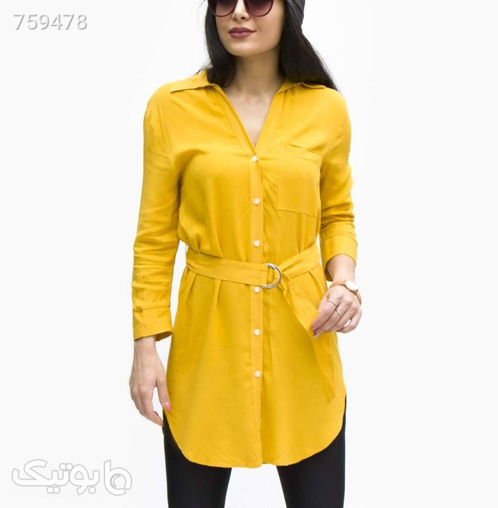 مانتو زنانه Breshka کد 9703GoldenrodL زرد مانتو