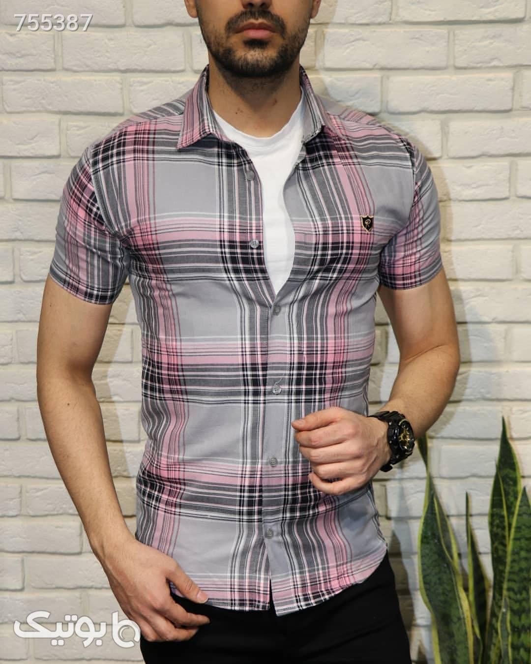 پیراهن آستین کوتاه زرد پيراهن مردانه
