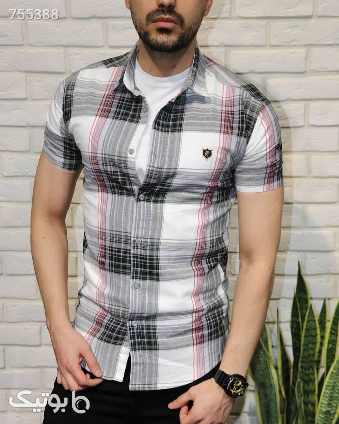 پیراهن آستین کوتاه مشکی پيراهن مردانه