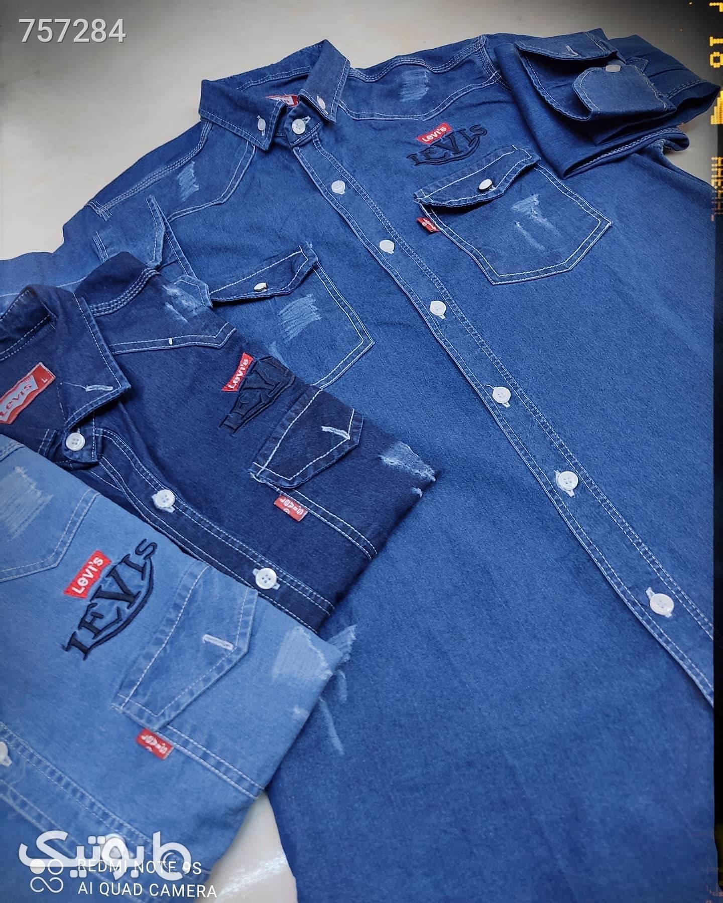 پیراهن جین ترک سورمه ای پيراهن مردانه
