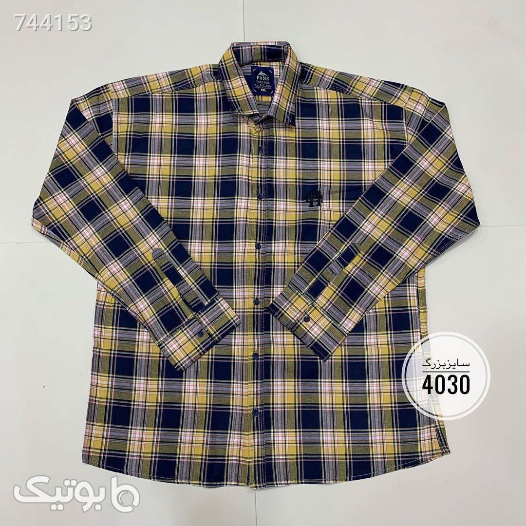پیراهن سایز بزرگکد 442  آبی سایز بزرگ مردانه