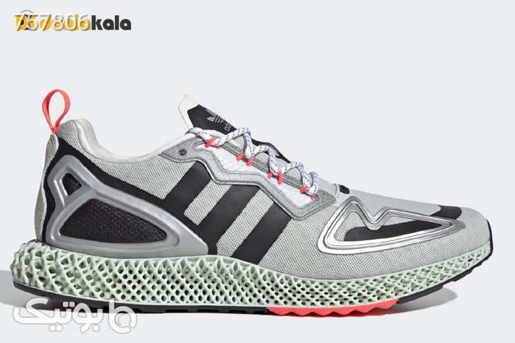 کتونی اورجینال مخصوص پیاده روی و دویدن مردانه آدیداس زد ایکس adidas zx 2k 4d fw2003 طوسی كتانی مردانه
