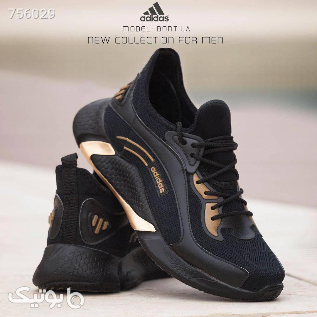 کفش آدیداس مدل Bontila طلایی  مشکی كتانی مردانه