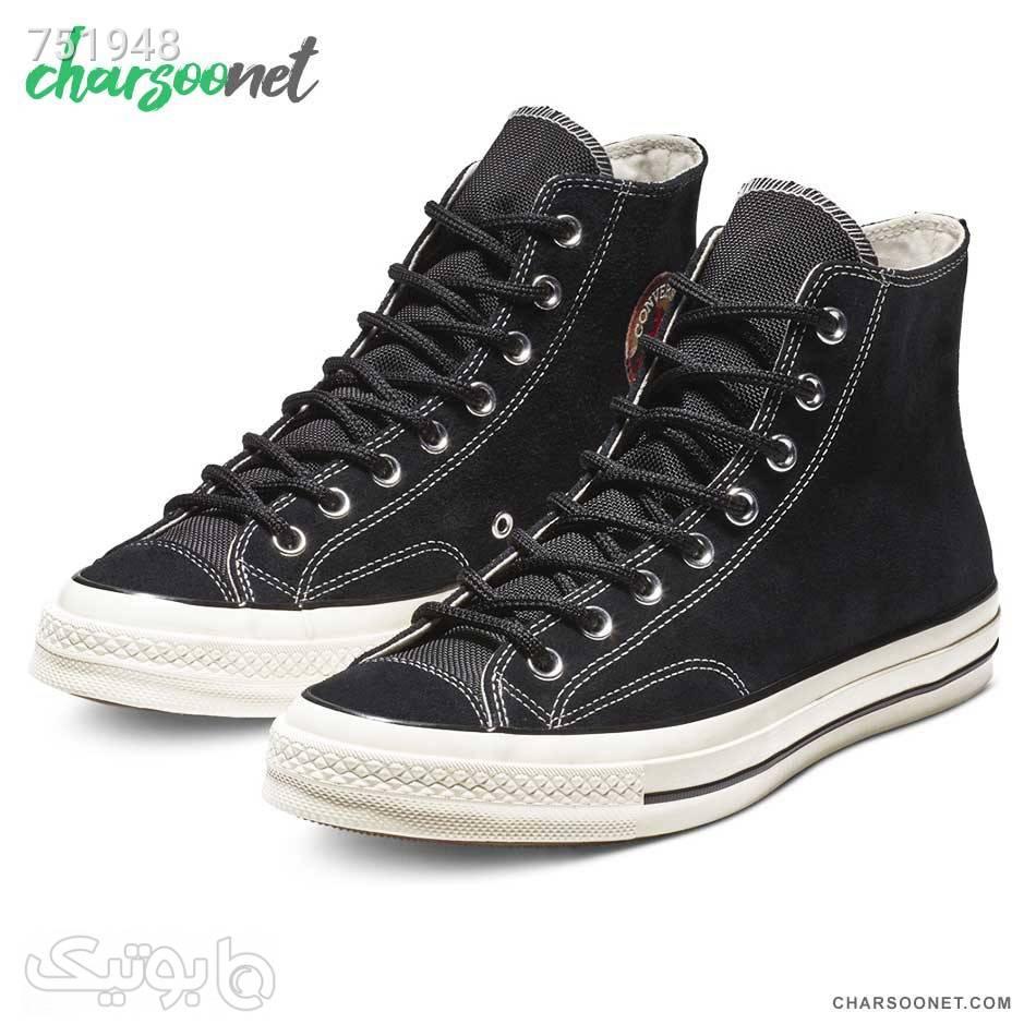 کفش اسپرت کانورس ساقدار Converse Chuck 70 Suede مشکی كتانی مردانه