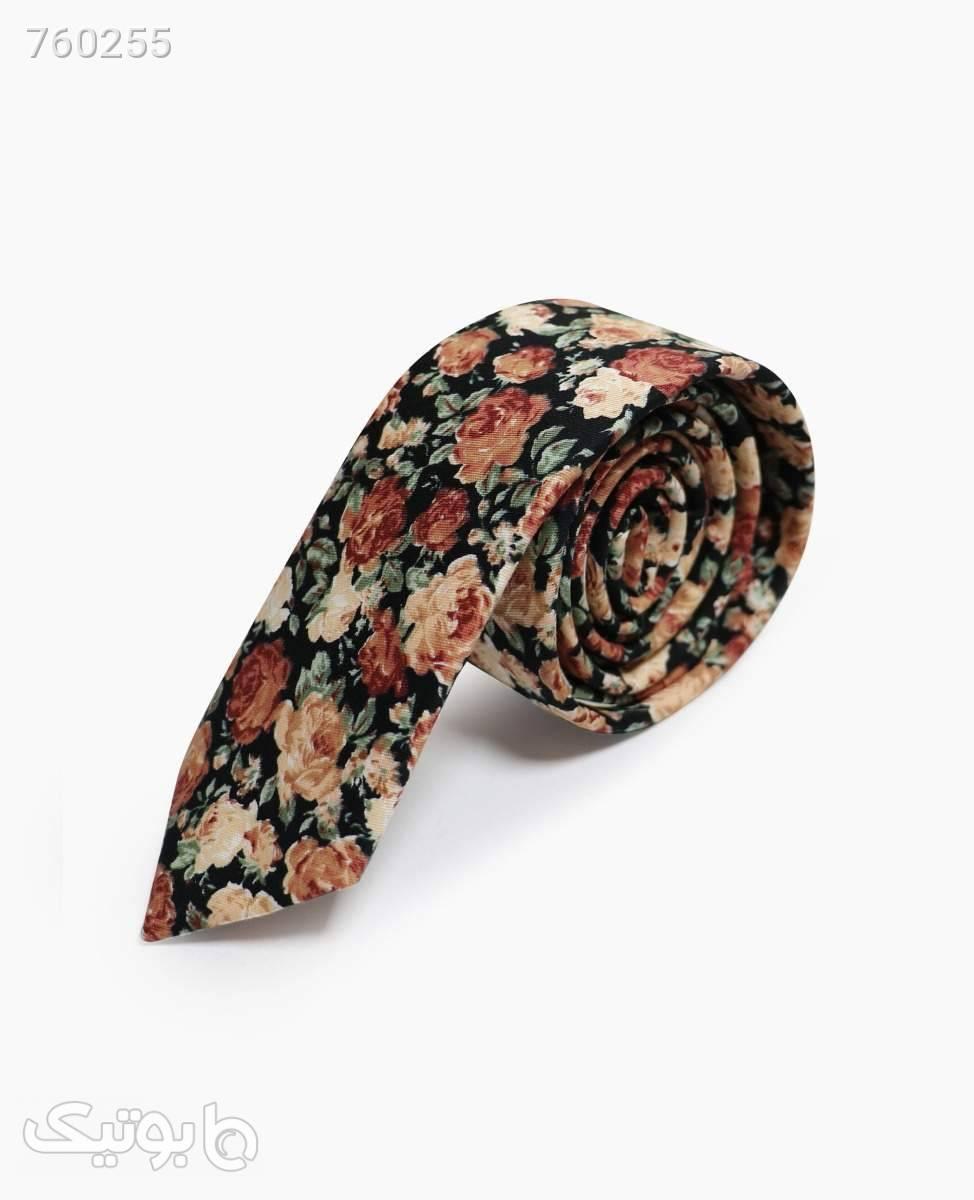 کراوات گلدار کد 9504Black Brown مشکی كراوات و پاپيون