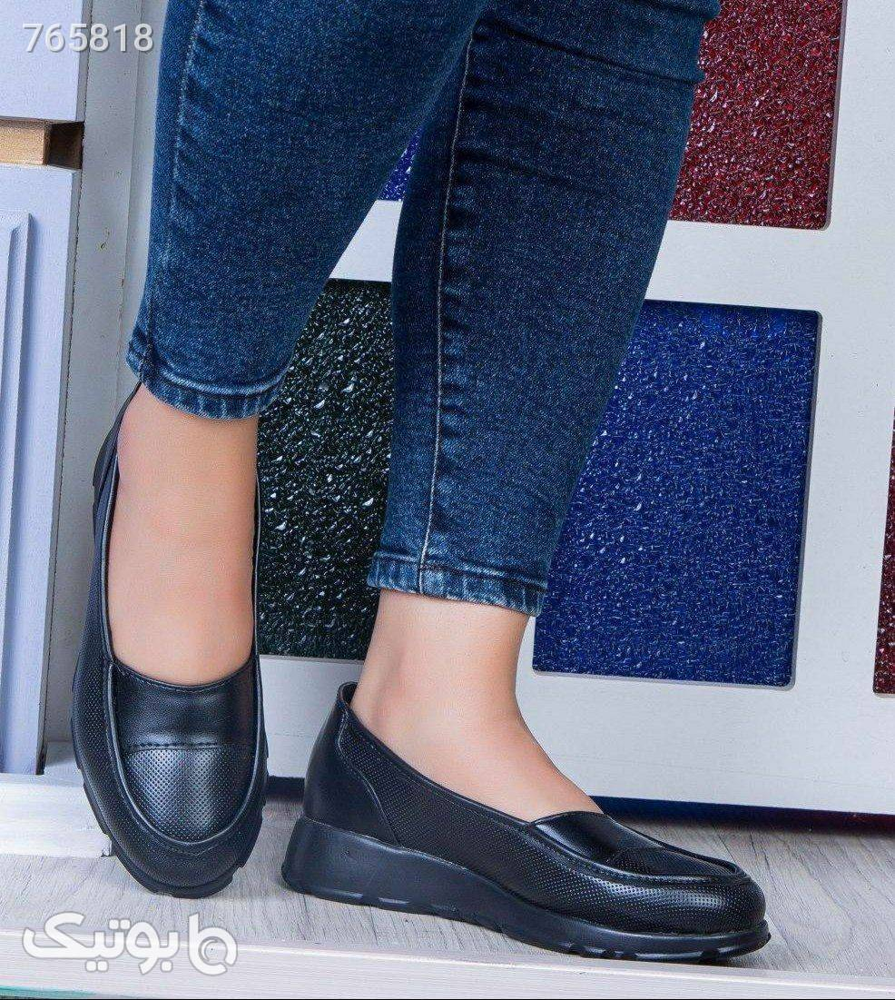 کفش کد 714 کفی طبی جدید و شیک مشکی کفش تخت زنانه