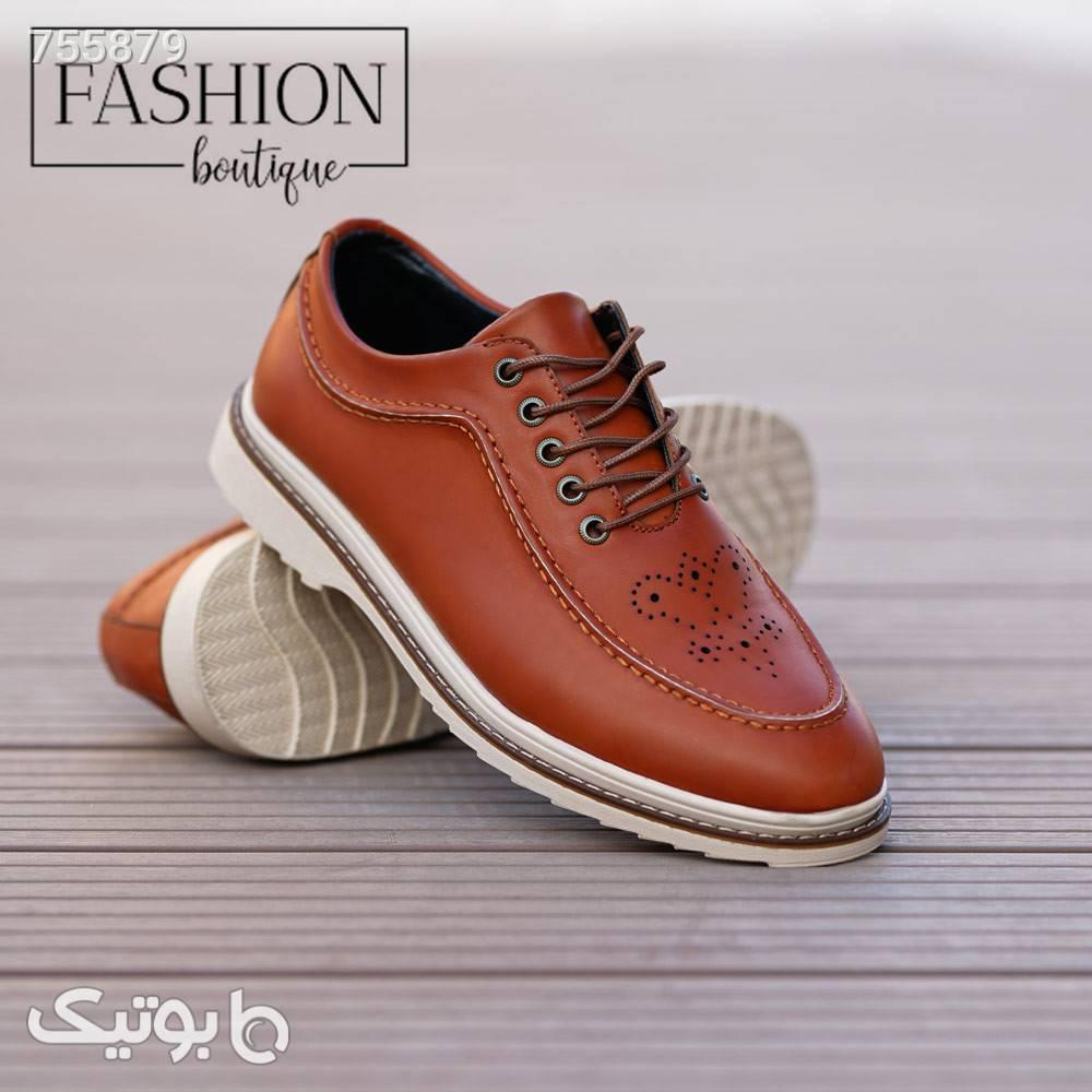 کفش مجلسی مدل ecco مدل Noraقهوه ای روشن قهوه ای كفش مردانه