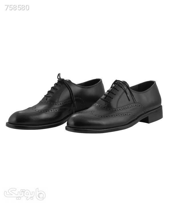 کفش مجلسی مردانه شهر چرم Leather City مدل 39998 مشکی كفش مردانه