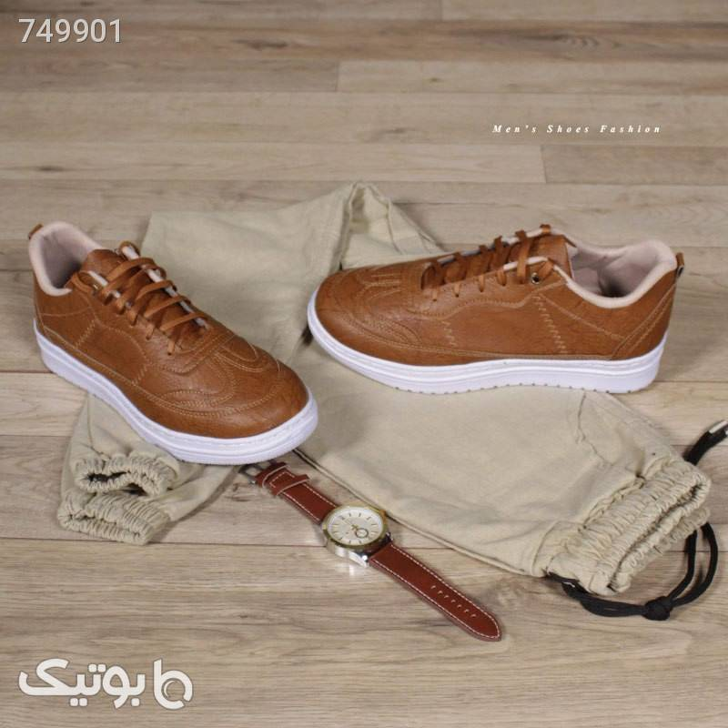 کفش مردانه مدل Shallow(عسلی) قهوه ای كفش مردانه