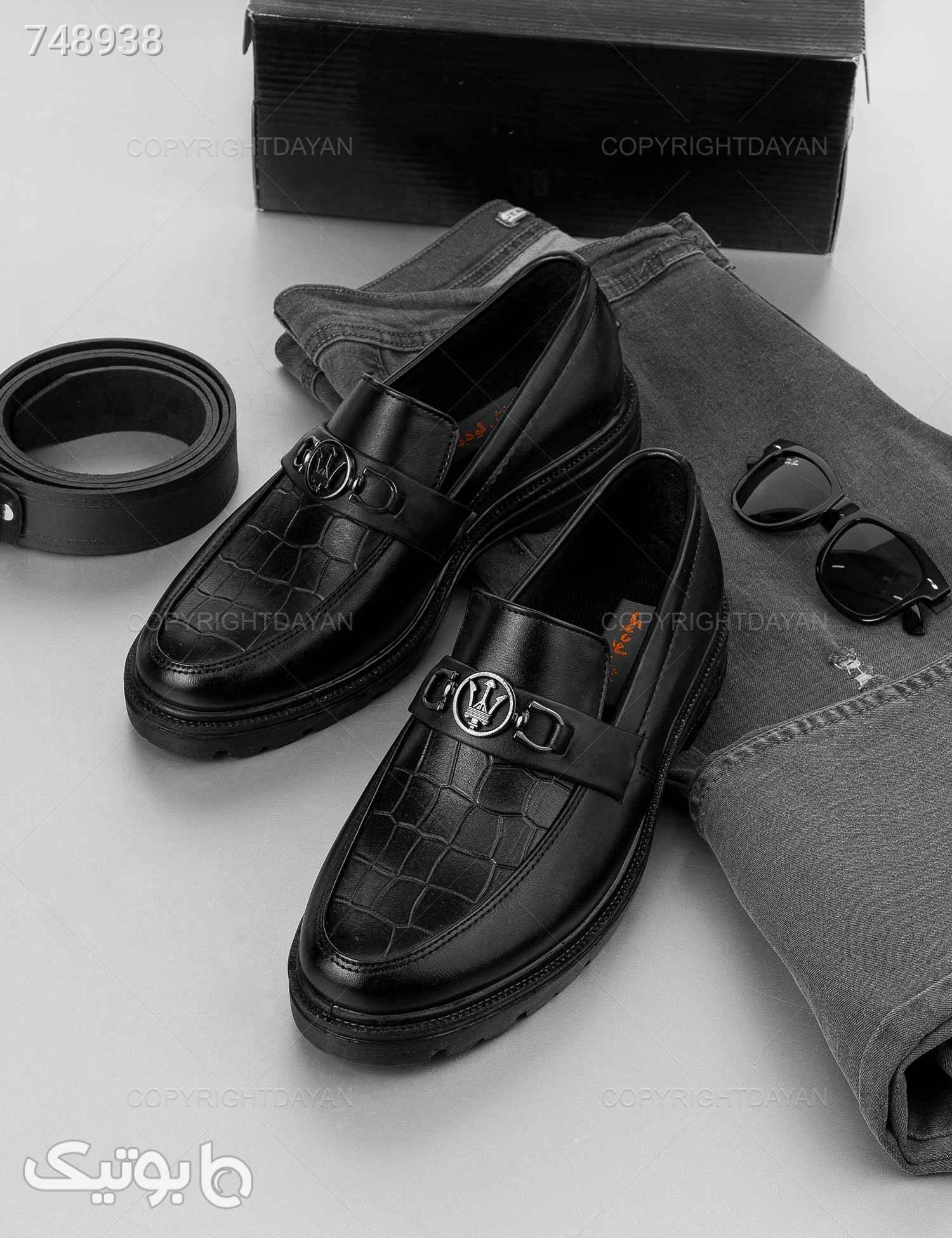 کفش مردانه Maserati مدل 19248 مشکی كفش مردانه