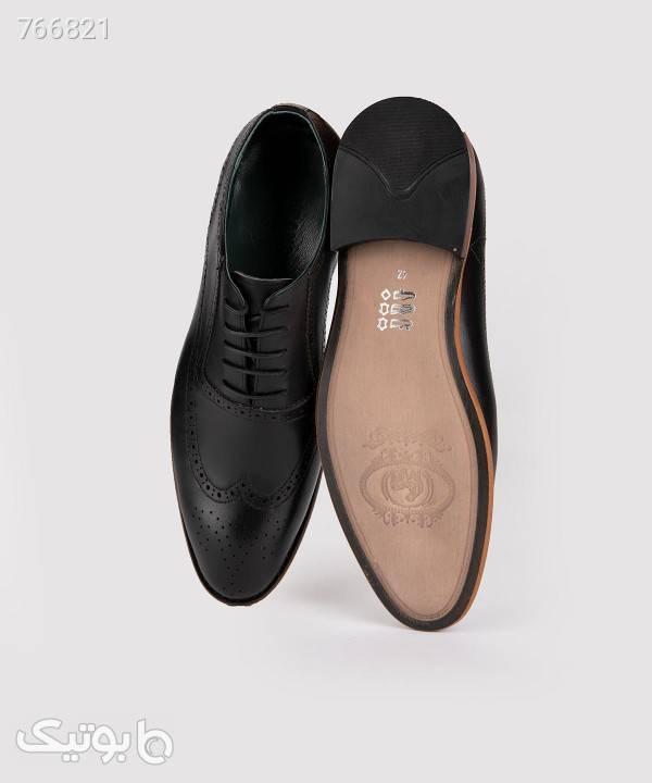 کفش هشترک مردانه چرم برندس Brands مدل br204 مشکی كفش مردانه